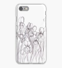Drawing Day 2010 - Irises iPhone Case/Skin