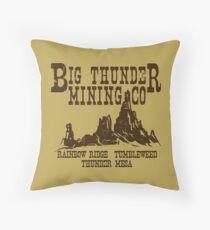 Big Thunder Mining Co Throw Pillow