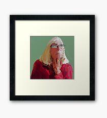 Red top Framed Print