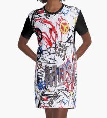 Love Moschino Collage Graphic T-Shirt Dress