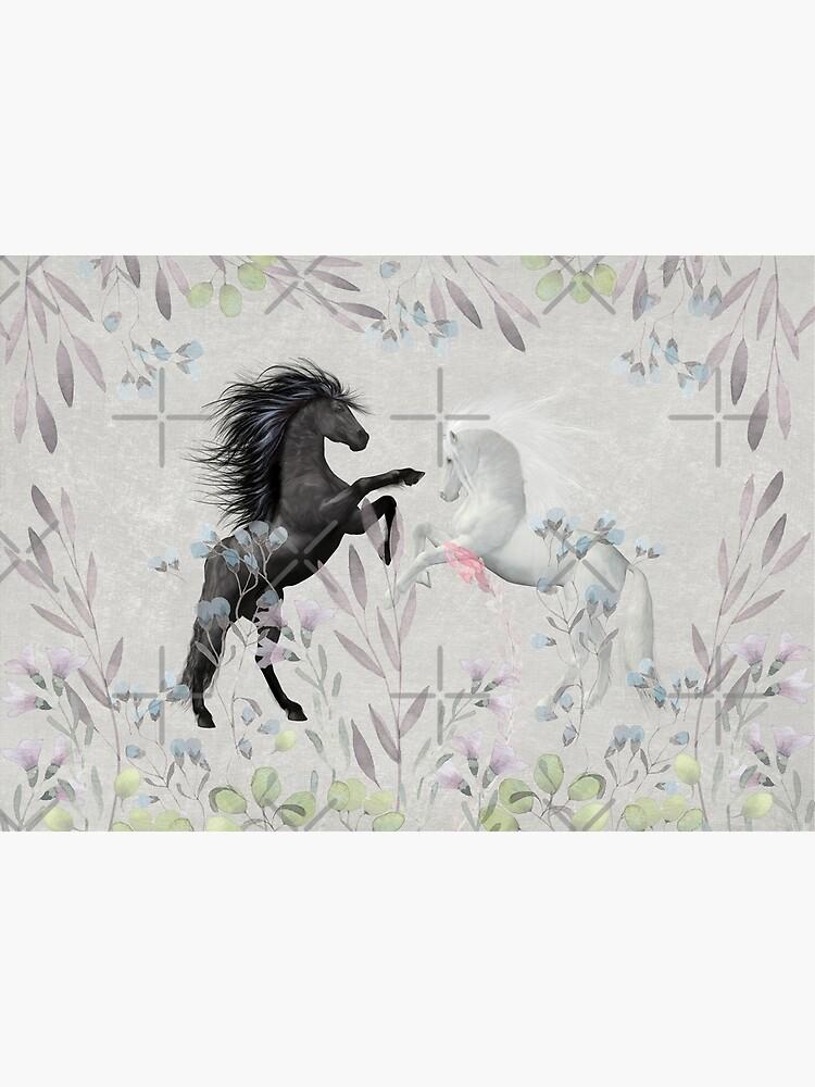 Floral Fantasy Horses by Amanda-Lakey
