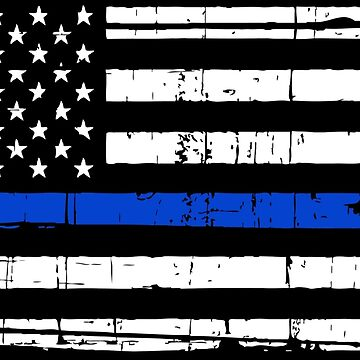 Bandera americana delgada línea azul de DarienBecker