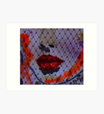 red Lips II Kunstdruck