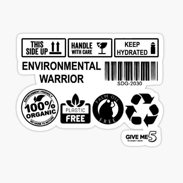 Environmental Warrior (black) Sticker