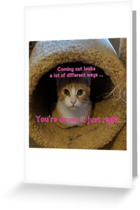 Coming Out Kitty says ... (fuschia text) by Think Again Training and Consulting