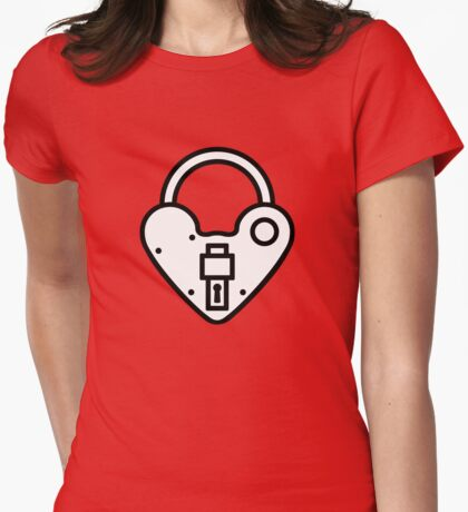 Loveheart Lock - love heart padlock T-Shirt