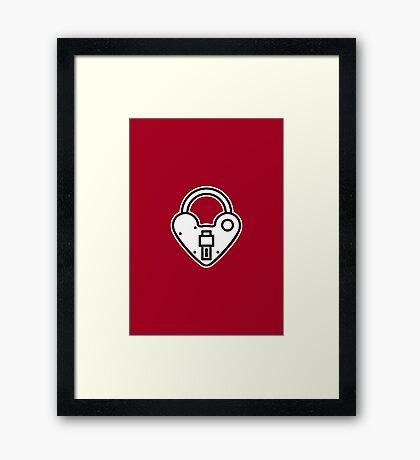 Loveheart Lock - love heart padlock Framed Print