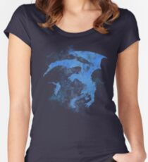 Dragonfight-cooltexture Inverted Women's Fitted Scoop T-Shirt