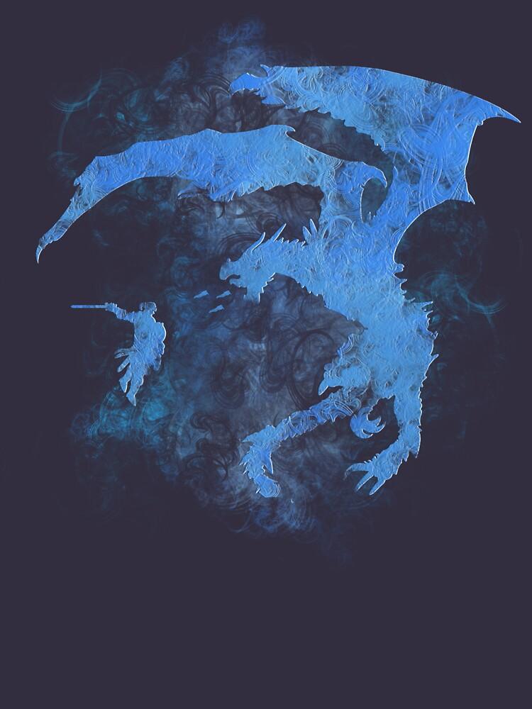 Dragonfight-cooltexture Inverted | Unisex T-Shirt