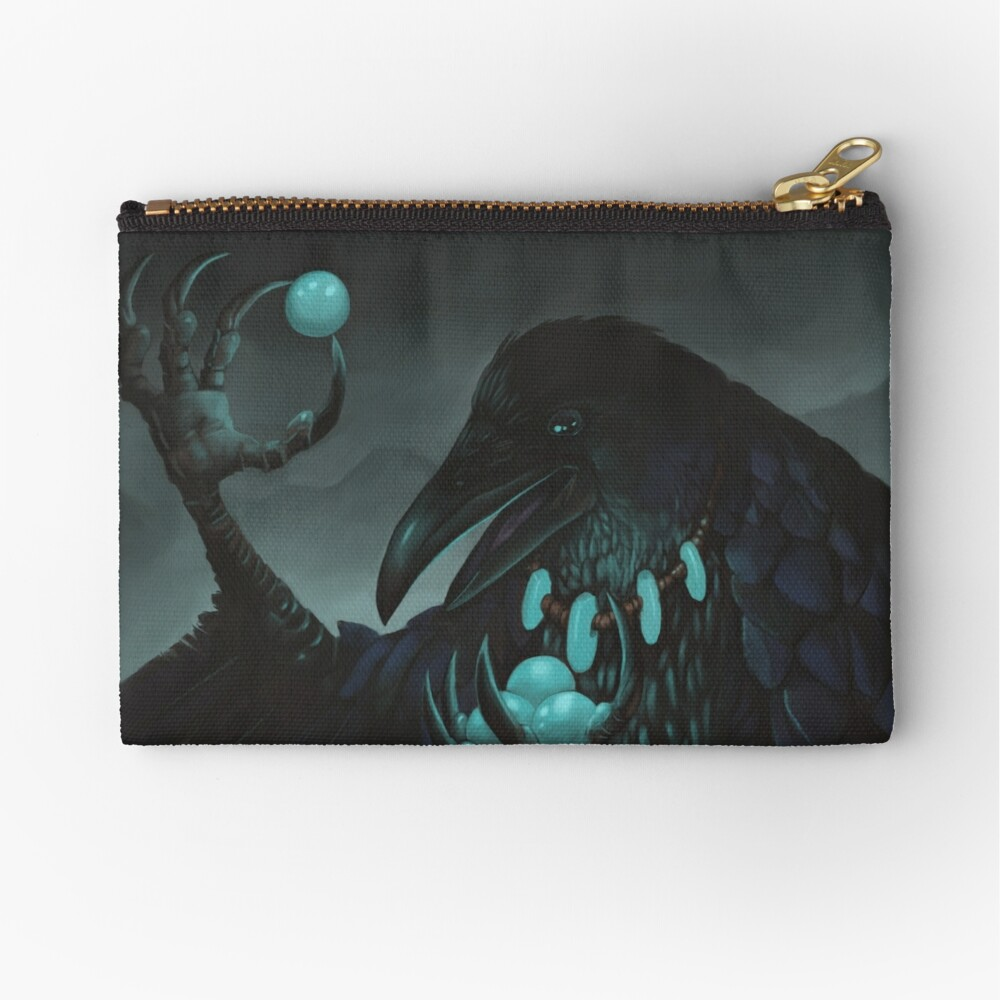 Storm Crow | Digital Illustration Zipper Pouch