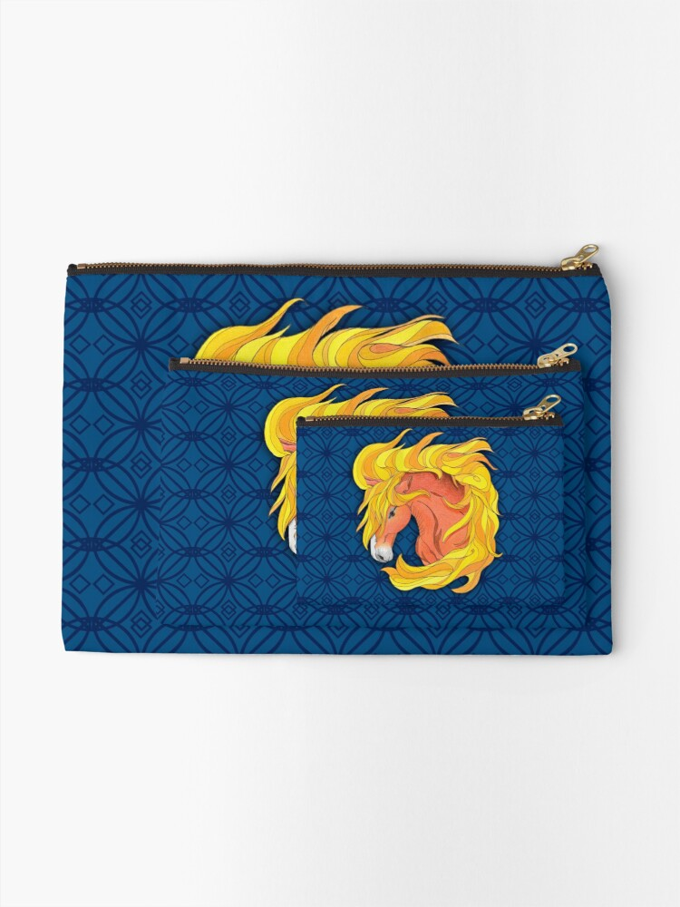 Alternate view of Horse Totem with Pattern Zipper Pouch
