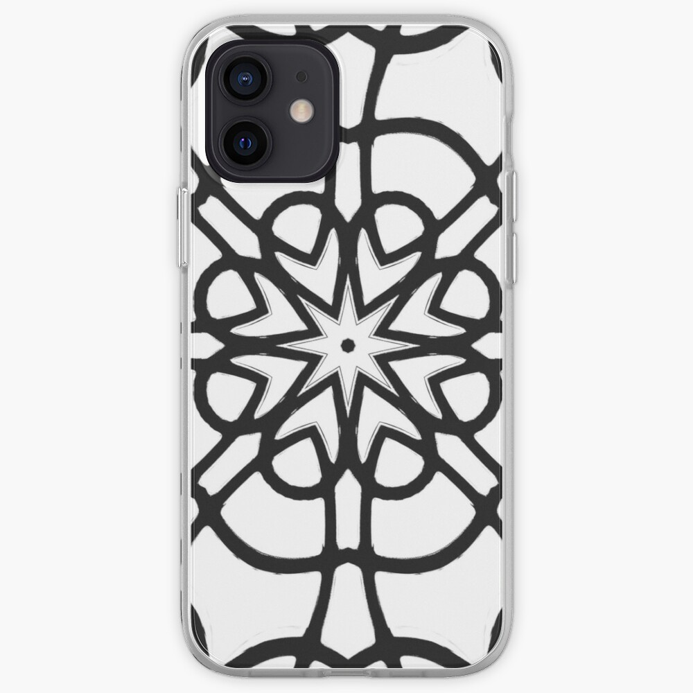 Monochrome One - Black and White Mandala Art iPhone Case & Cover