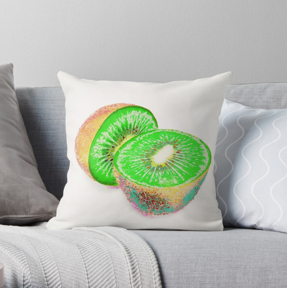 Kiwilicious - Fruit Lover Gift Throw Pillow