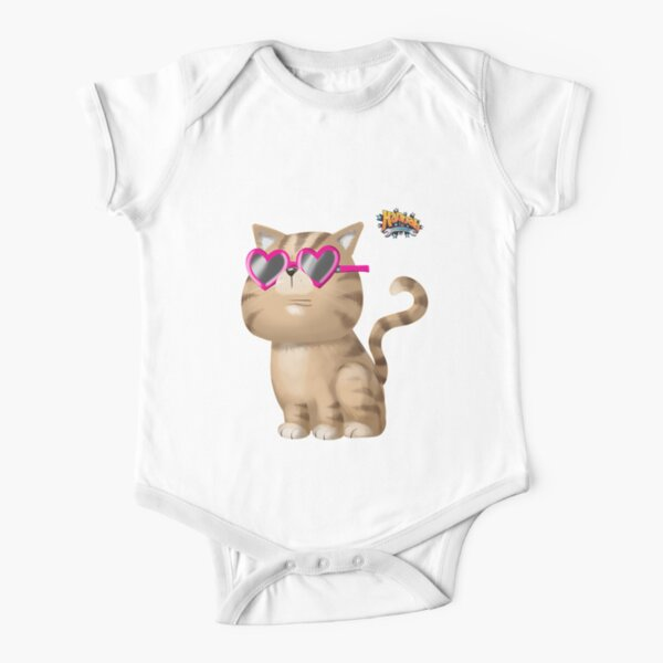 Cool Cat Short Sleeve Baby One-Piece