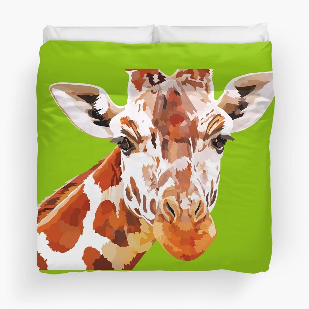 Giraffe - What's up? Duvet Cover