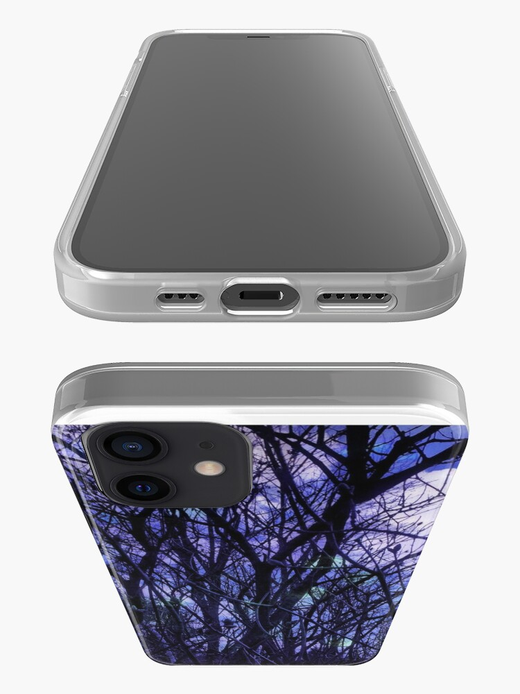 Alternate view of Dark Purple Forest - Purple Blue and Black Bare Tree Landscape iPhone Case & Cover