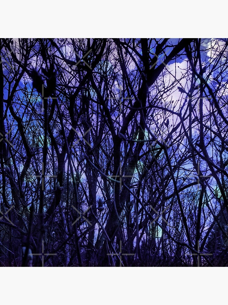 Dark Purple Forest by OneDayArt