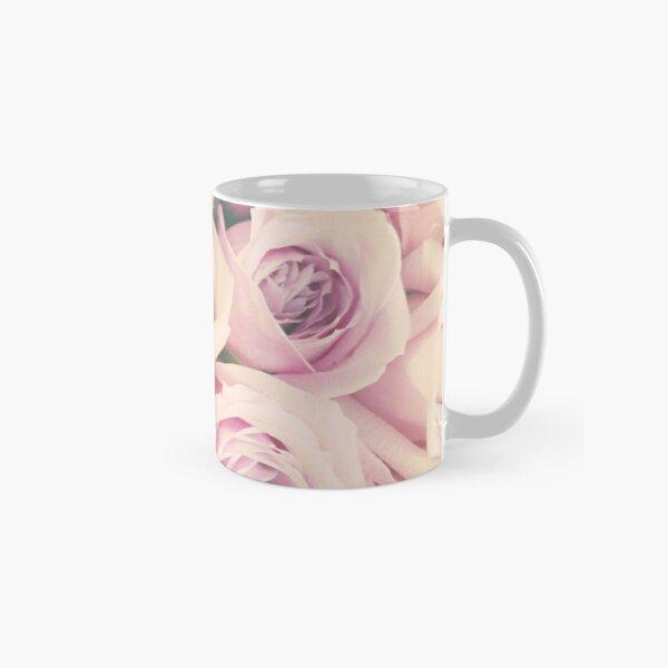 Gift for Gardener - Pink Rose Blush Pastel Gift - Floral Present Classic Mug