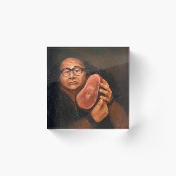 Danny Devito and his Beloved Ham Acrylic Block