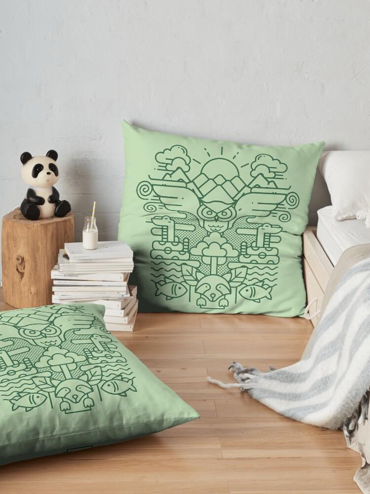 Alternate view of I Dream of Ecology Floor Pillow