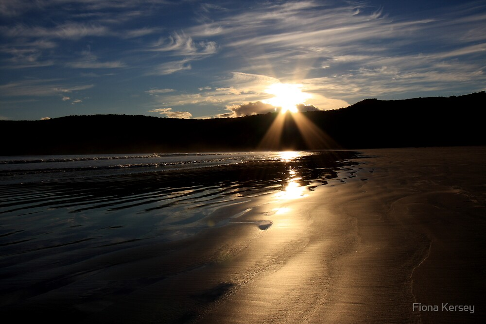 Sunset at Norman Beach by Fiona Kersey