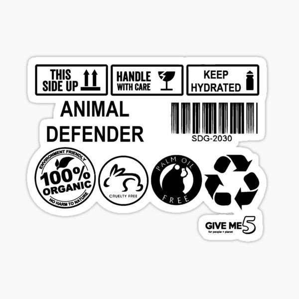 Animal advocate (black) Sticker
