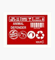 Animal advocate (white) Art Print