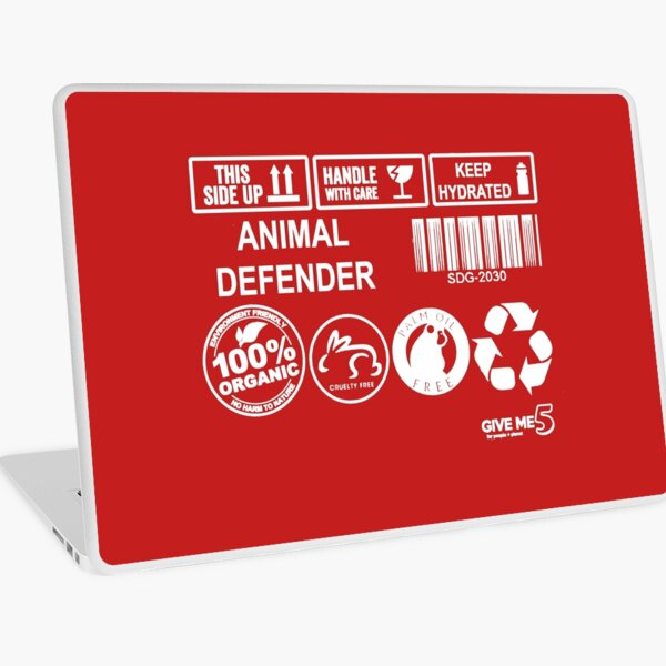 Animal advocate (white) Laptop Skin