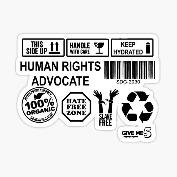 Defender of human rights (black) Sticker