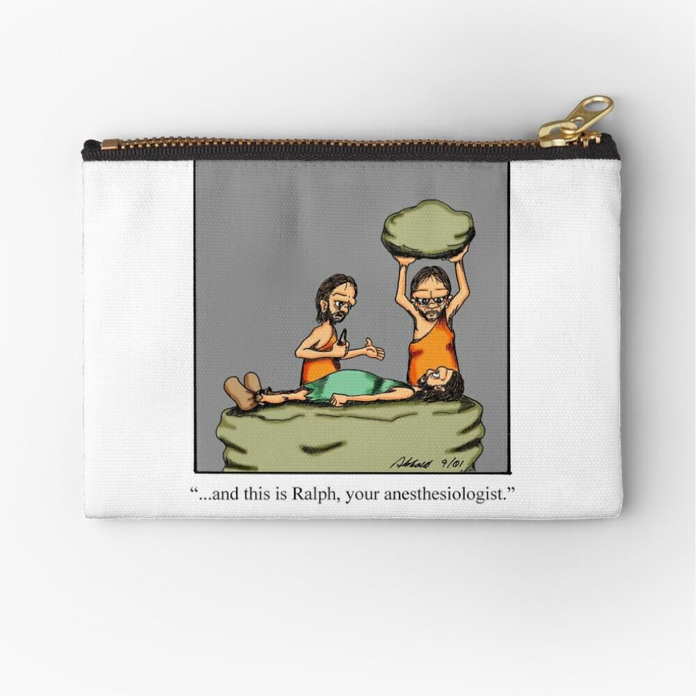 Lustiger medizinischer Höhlenbewohner-Anästhesiologe-Cartoon-Kunst Täschchen