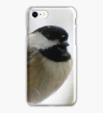 Chickadee In Snowstorm iPhone Case/Skin