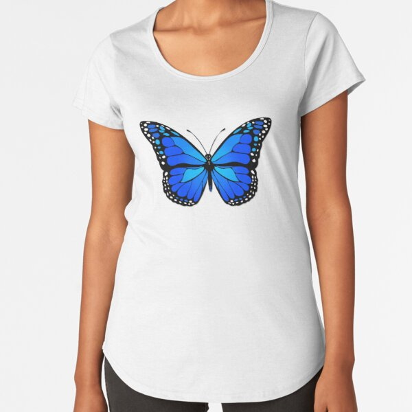 Blue butterfly Premium Scoop T-Shirt