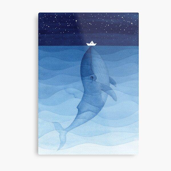 Blue whale, sea animal Metal Print