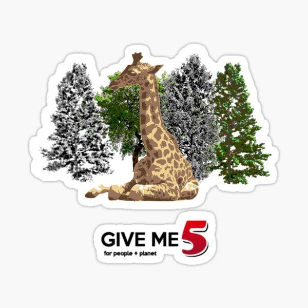Let's save the giraffe Sticker