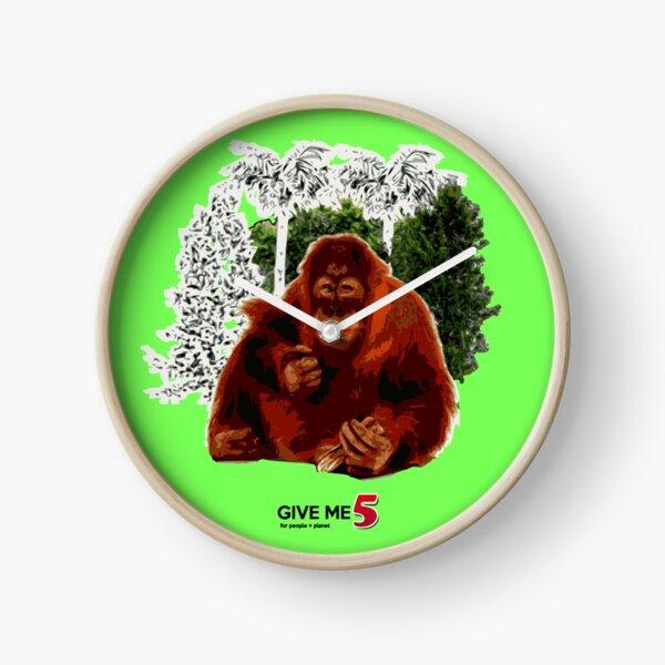 Let's save the orangutan Clock