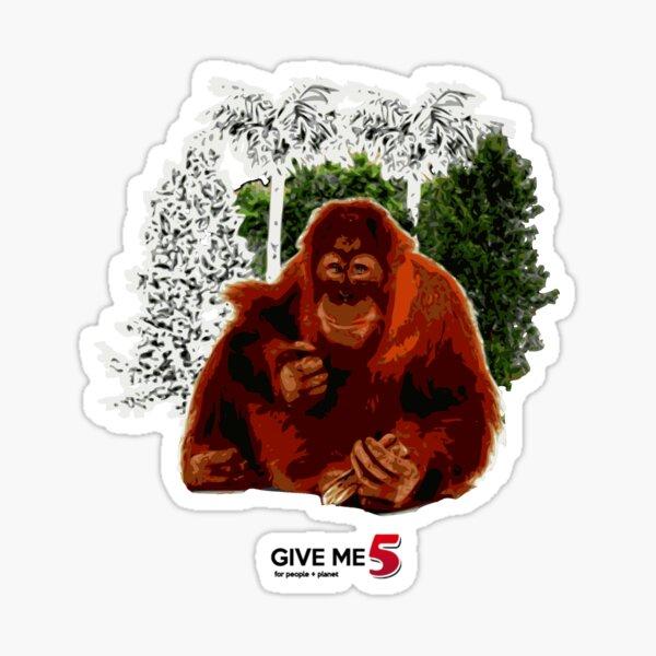 Let's save the orangutan Sticker