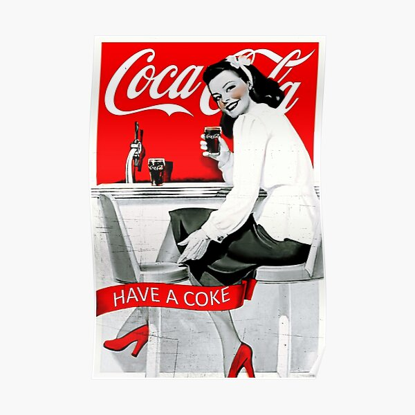 Coca cola  Old Commercial  Poster