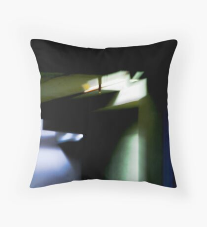 Study in Blue and Green Throw Pillow