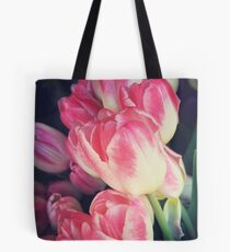 Tulip Lovers - Dramatic Pink Tulips Photography Tote Bag