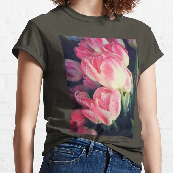Tulip Lovers - Dramatic Pink Tulips Art Photography Classic T-Shirt