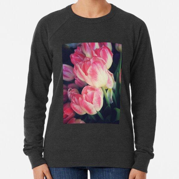 Tulip Lovers - Dramatic Pink Tulips Art Photography Lightweight Sweatshirt