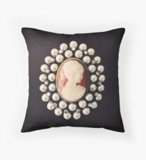 Classic Vintage Cameo - Art Photo  Throw Pillow
