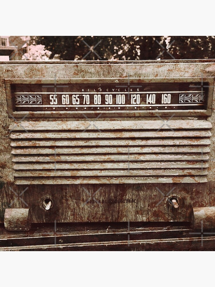 Classic Oldies Fan - Old Vintage Radio photography by OneDayArt