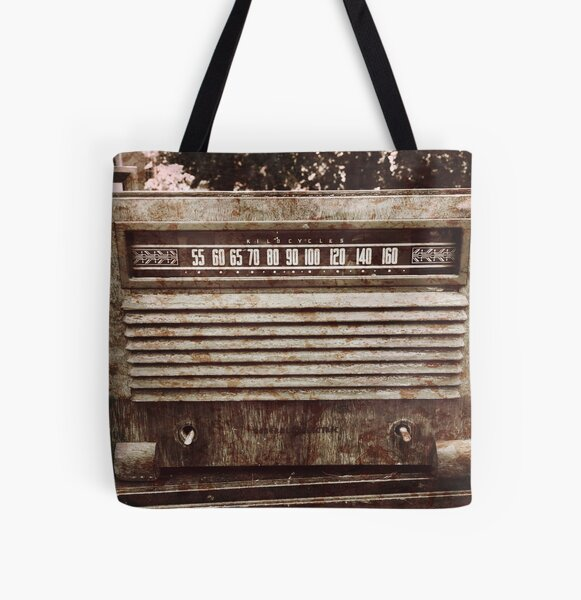 Classic Oldies Fan - Old Vintage Radio photography All Over Print Tote Bag