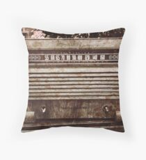 Classic Oldies Fan - Old Vintage Radio photography Throw Pillow