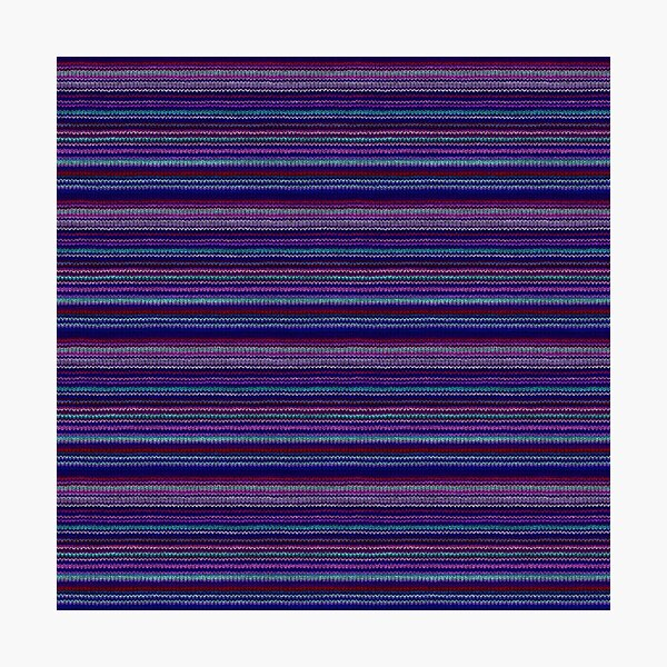 Lilac Purple Striped Knitted Weaving Photographic Print