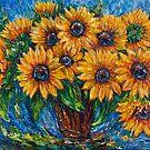 Sonnenblumen in einem Vase2-Spachtel-Gemälde von OLena Art von OLena  Art ❣️