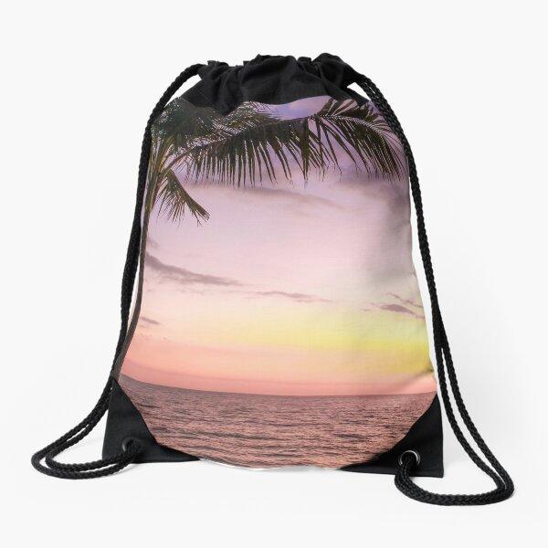 Palm in Paradise Drawstring Bag