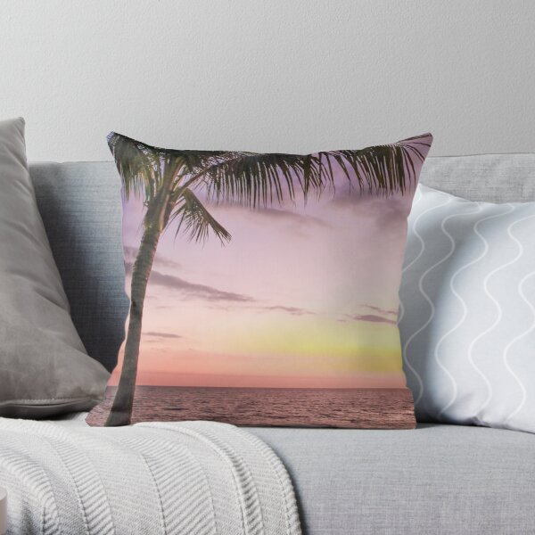 Palm in Paradise Throw Pillow