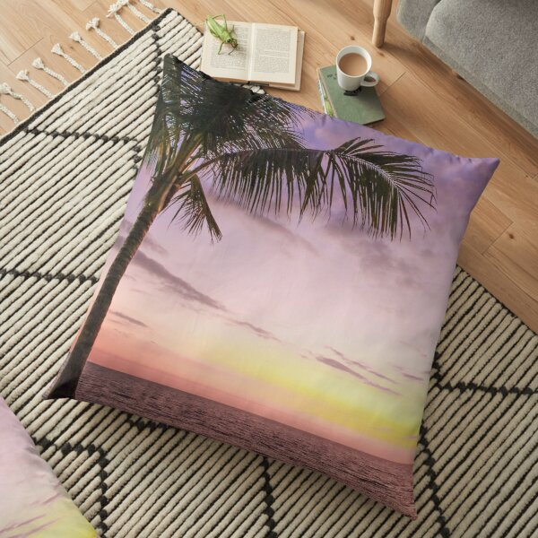 Palm in Paradise Floor Pillow